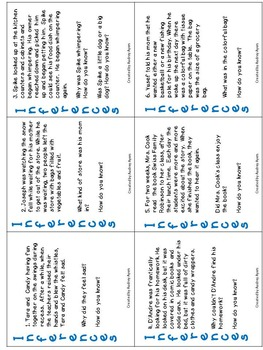 **Literacy Double Bundle** INFERENCE Task Cards/READING COMPREHENSION Task Cards