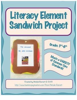Literacy Element Sandwich Project & Rubric (Common Core Aligned)