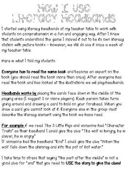 Literacy Elements Headbands