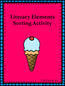 Literacy Elements Ice-Cream Themed Sorting Center Activity