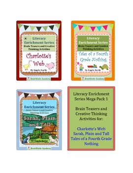 Literacy Enrichment Mega Pack 1 - Brain Teasers and Creative Thinking Activities