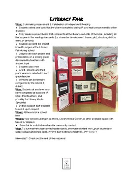 Literacy Fair Project Guidelines