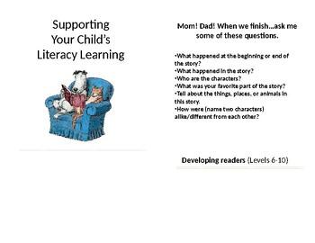 Literacy Flipbook for Parents