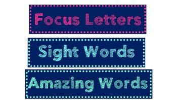 Literacy Focus Wall Headers