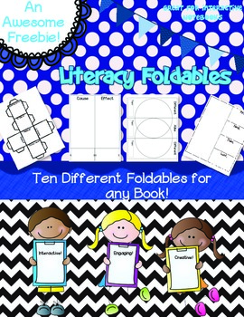 Literacy Foldables~10 Foldables To Do With Any Book!