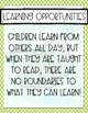 Literacy Bunting for Children with Autism and Special Needs