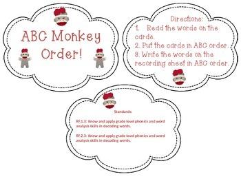 Literacy Fun Grades 1 & 2: Sock Monkey Theme!