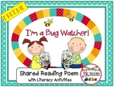 Insects:  I'm A Bug Watcher FREEBIE - Shared Reading Song