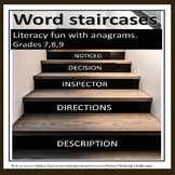 Literacy Fun with Anagrams : Word Staircase