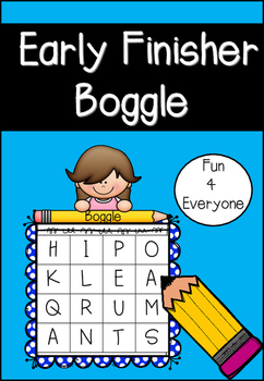 Literacy Game - Early Finisher Boggle