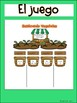 Literacy Game Initial Sounds in Spanish- Garden Theme