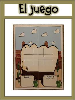 Literacy Game in Spanish- Western Theme