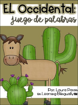 Literacy Game in Spanish- Western Theme