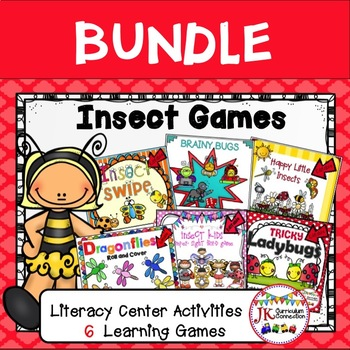 Literacy Games BUNDLE - INSECT Themed
