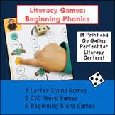 Literacy Games: Beginning Phonics