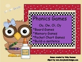 Literacy Games--Focus Skills:  Ou, Ow, Oi & Oy