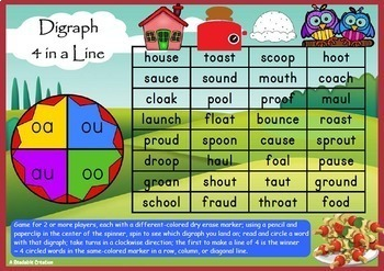 Literacy Games - Phonic Fun with Blends and Digraphs