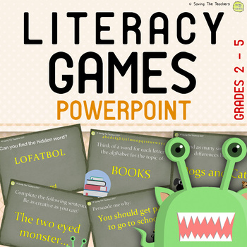 Literacy Games PowerPoint