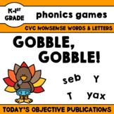 Literacy Games Thanksgiving (Gobble, Gobble!)