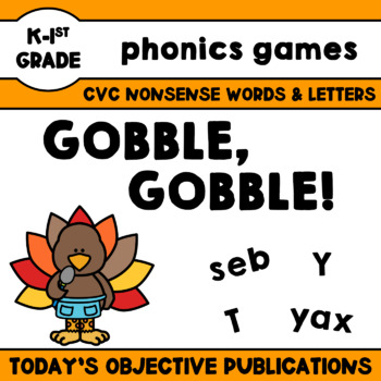 Literacy Games Thanksgiving (Gobble, Gobble!)