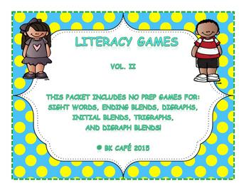 LITERACY GAMES Vol. 2