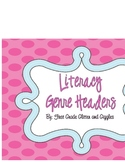 Literacy Genre Headers