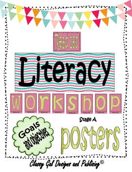 Literacy Goals and Objective Posters for the Read 180 Classroom {Blue}