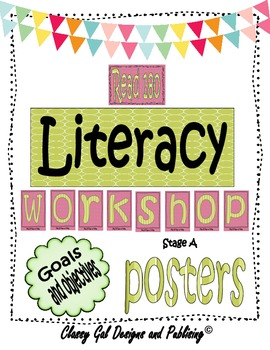 Literacy Goals and Objective Posters for the Read 180 Classroom {Green}
