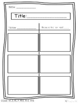 Literacy Graphic Organizer Pack