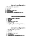 Literacy Group Expectations