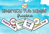 Literacy Group Organisation Labels FREEBIE