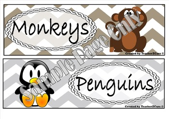 Literacy Groups Names Animals - Long Tub Labels