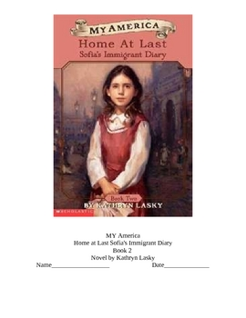 Literacy Guide My America Home at Last Historical Fiction Immigration