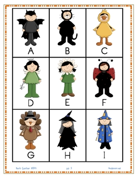 Literacy Halloween letter and sound identification