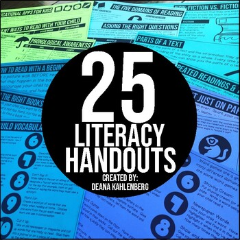 Literacy Handouts for Parents by Primary Punch | TpT