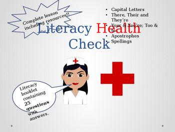 Literacy Health Check - Complete Lesson Test