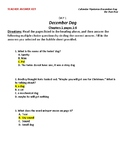 Literacy Homework--Calendar Mysteries; The December Dog [KEY]