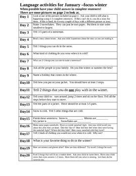 Literacy Homework Choices for January
