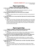 Literacy Homework-- Pippi Longstocking [KEY]