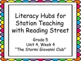 Literacy Hubs for Station Teaching: Gr 5 Reading Street U4W4