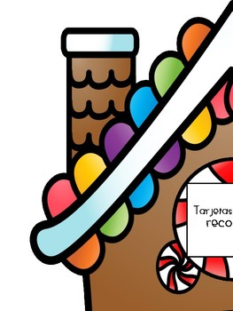 Literacy Initial Sound Game in Spanish- Gingerbread Theme