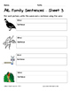Literacy Interactive Notebook Pages - AIL Word Family