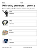 Literacy Interactive Notebook Pages - AIN Word Family