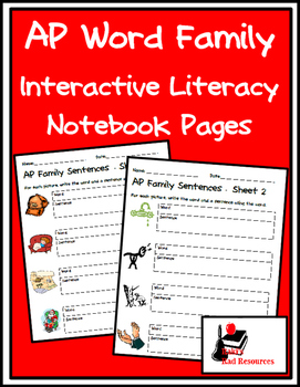 Literacy Interactive Notebook Pages - AP Word Family