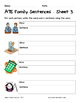 Literacy Interactive Notebook Pages - ATE Word Family
