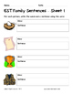 Literacy Interactive Notebook Pages - EST Word Family