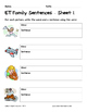 Literacy Interactive Notebook Pages - ET Word Family