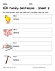 Literacy Interactive Notebook Pages - ICK Word Family