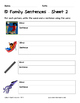 Literacy Interactive Notebook Pages - ID Word Family