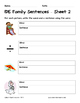 Literacy Interactive Notebook Pages - IDE Word Family